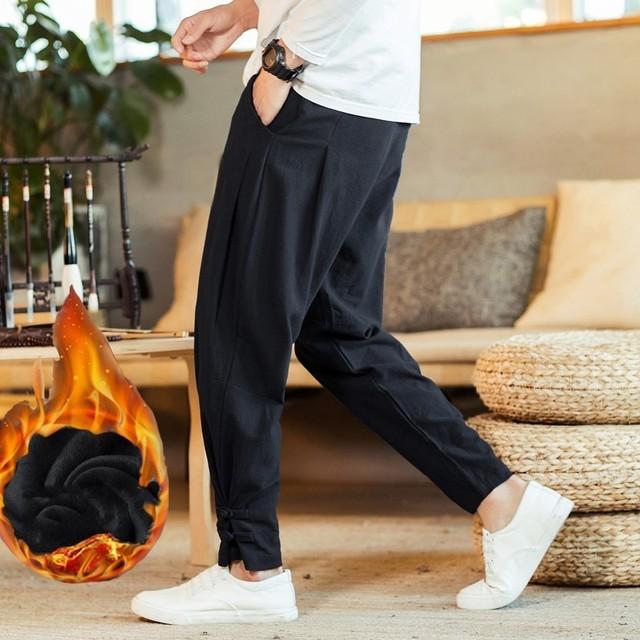 New Brand Man Clothes 2020 Autumn Male Trousers Loose Cotton Joggers Track Casual Sweatpants Winter Men Plus Velvet Pants 4