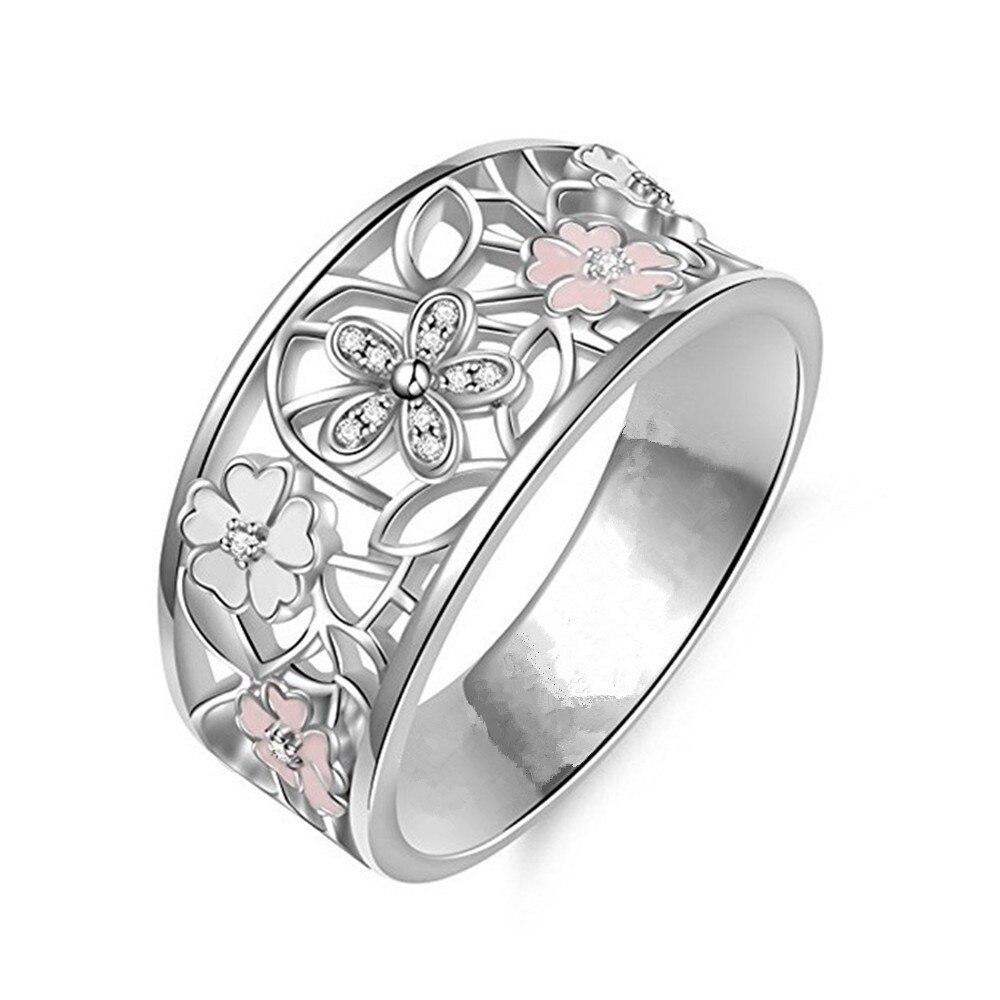 Новинка, кольца из розового золота для женщин, полностью Кристальное обручальное кольцо из Стразы для дам, Женские аксессуары, кольца на палец, ювелирное изделие, подарок - Цвет основного камня: 18