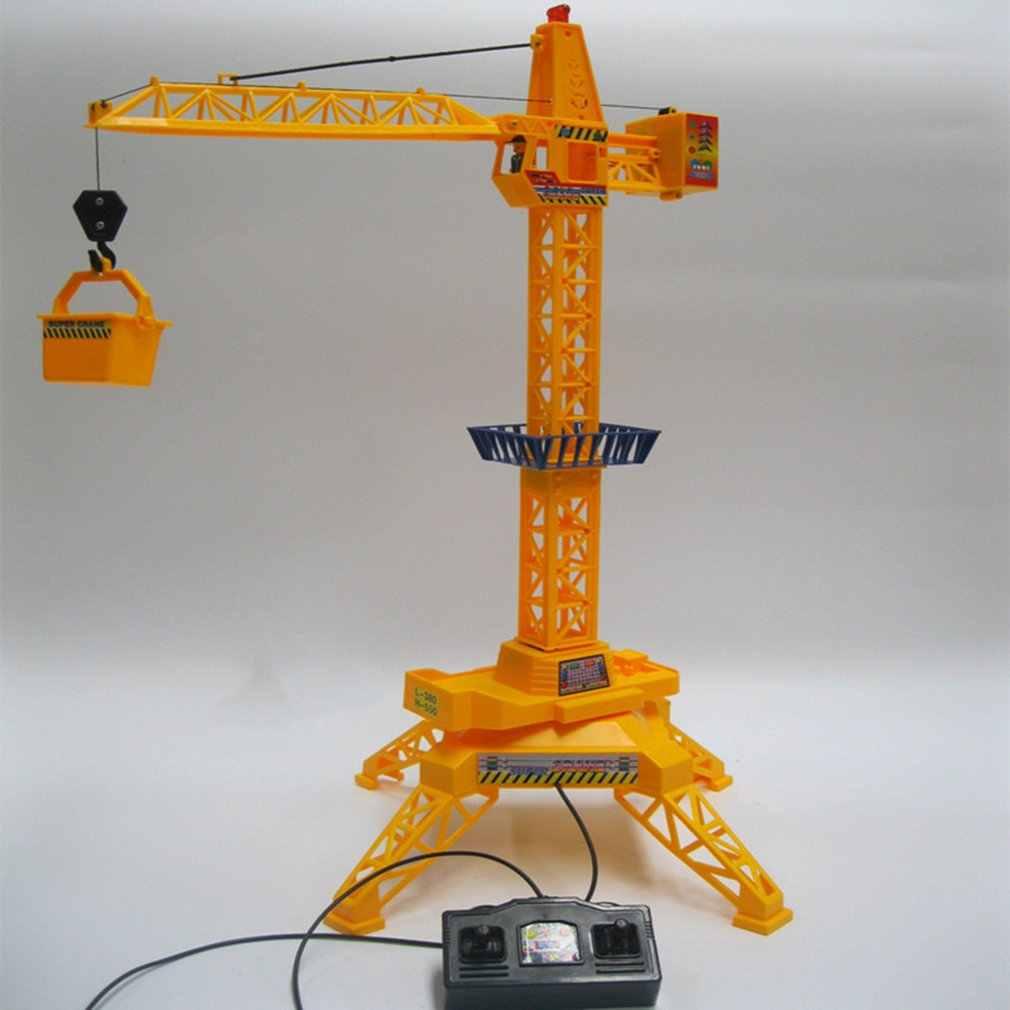Kinderen Torenkraan Elektrische Afstandsbediening Draadloze Techniek Auto Kinderen Speelgoed Model Met Geluid