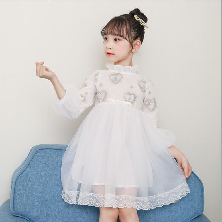 5a0801c03f Online Shop 8.7th EE80 Fashion Princess Dress girl Round collar ...