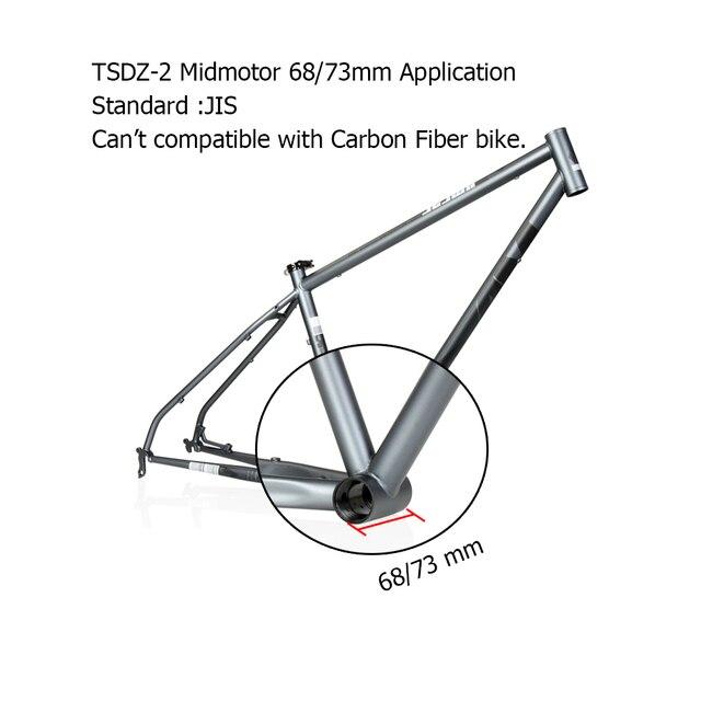 TSDZ2 Tongsheng 850C affichage 36V 48V 250W 350W 500W capteur de couple 42T mi moteur dentraînement Kit de vélo électrique avec fonction de batterie