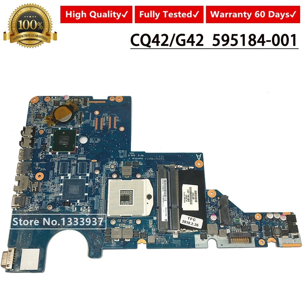 595184-001 Mainboard For HP CQ42 G62 G42 G72 CQ62 Laptop Motherboard DA0AX1MB6F0 HM55