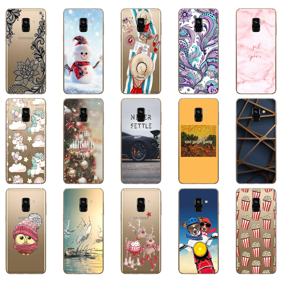 Soft TPU <font><b>Phone</b></font> <font><b>Case</b></font> For <font><b>Samsung</b></font> <font><b>Galaxy</b></font> <font><b>A8</b></font> 2018 A530 A530F silicone Cover For <font><b>Samsung</b></font> <font><b>A8</b></font> Plus 2018 A730 A730F Clear <font><b>Case</b></font> image