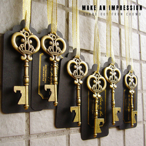Image 3 - 36/50pcs Key Bottle Opener with Tags Zinc Alloy Beer Open Wedding Gift Kitchen Tool Accessories Special Events Party Supplies