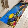 Забавный коврик для кухонной и входной двери  противоскользящий напольный коврик  ванная комната  прихожая  50x80 см  дизайн с принтом океанов