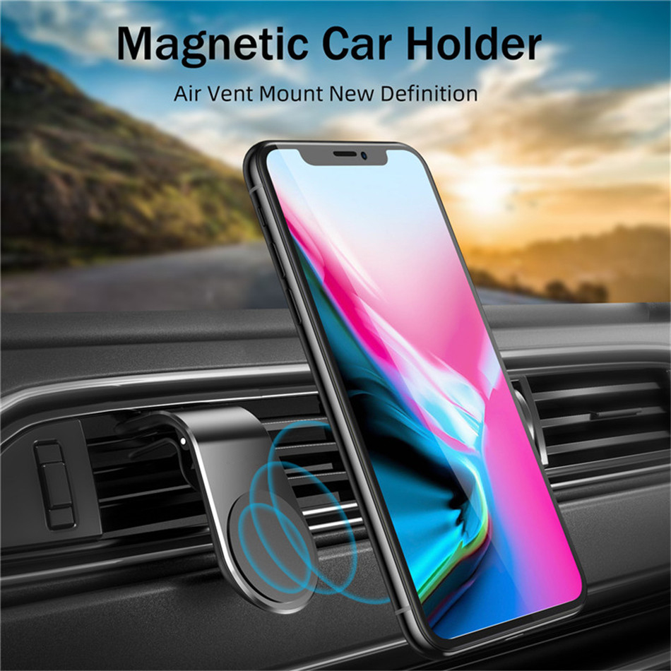 USLION Magnetic Car Phone Holder Air Vent Clip Mount Stand in Car For iPhone 11 Samsung S10 S9 Magnet GPS Mobile Phone Holders 11
