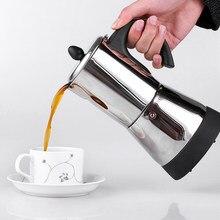 Cafetière expresso électrique en acier inoxydable, 4/6 tasses, cafetière Moka, avec cuisinière électrique, percolateur