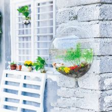 Plexiglass Clear Fish Bowl Wallcrylic Hangingquarium Tankquatic Pet Products Wall Mount Fish Tank for Betta Fish Bubble(China)
