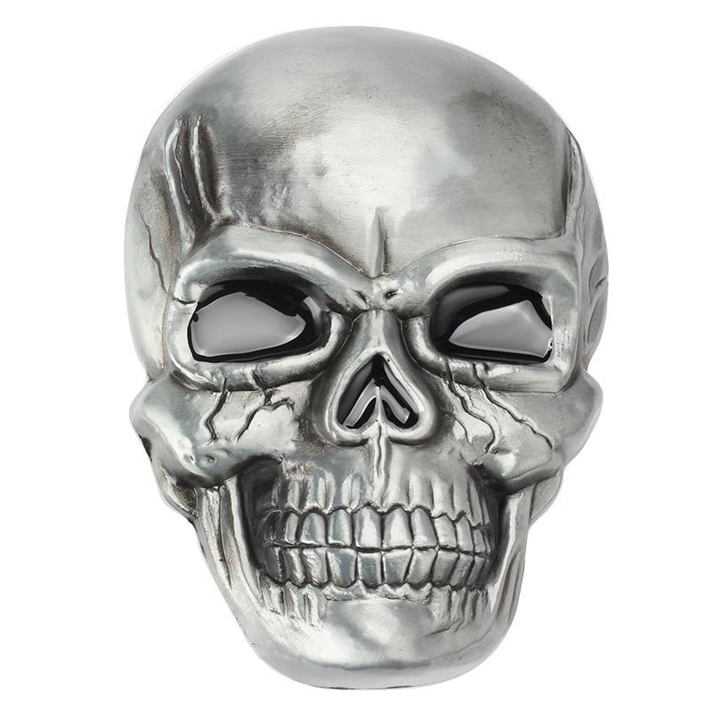 Skull Skeleton Mask Belt Buckle Belt DIY Accessories Western Cowboy Style Handmade Smooth Belt Buckle Punk Rock Style