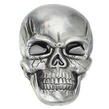Skull skeleton mask belt buckle Belt DIY accessories Western cowboy style handmade Smooth Punk rock