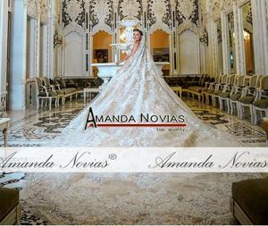 Image 3 - Straplez şampanya renk tam dantel düğün elbisesi balo elbisesi