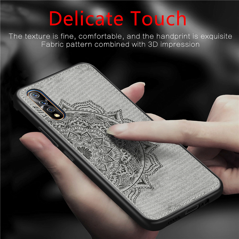 Case For Vivo V17 Neo Case Magnetic Fashion Cloth Cotton Fabric Phone Case For Vivo Iqoo Neo Cover For Vivo V17 Neo/S1/Z5/Y7S