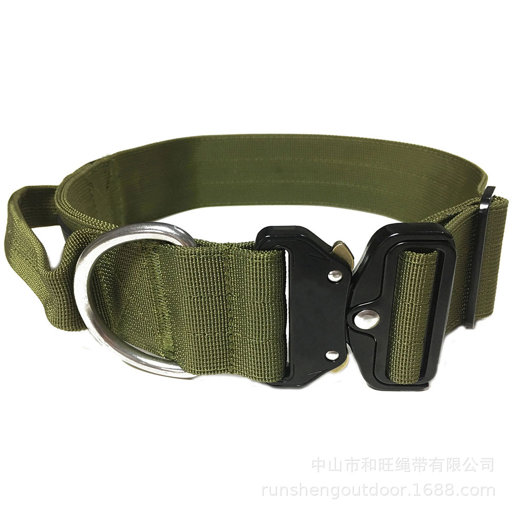 Pet Collar Heavy Duty Cobra Buckle-Dog Neck Ring Anti-Strong Pull Bulldog With Collar Dog Supplies