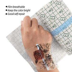 Image 5 - 10 m 문신 용품 액세서리 flm 문신 보호를위한 케어 문신 붕대 솔루션 후 보호 통기성 문신 필름