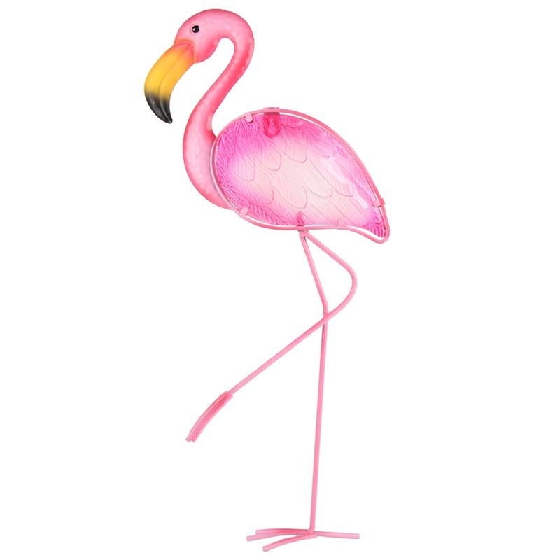 Metal Flamingo Wall Artwork Statues for Garden Decoration Outdoor Animal Miniatures Sculptures for Yard