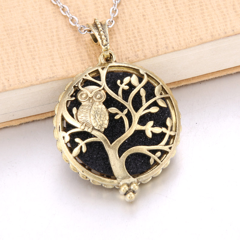 1 шт. аромадиффузор ожерелье Открытый Античный винтажный медальон кулон парфюм эфирное масло ароматерапия медальон ожерелье с подушечками - Окраска металла: N2220