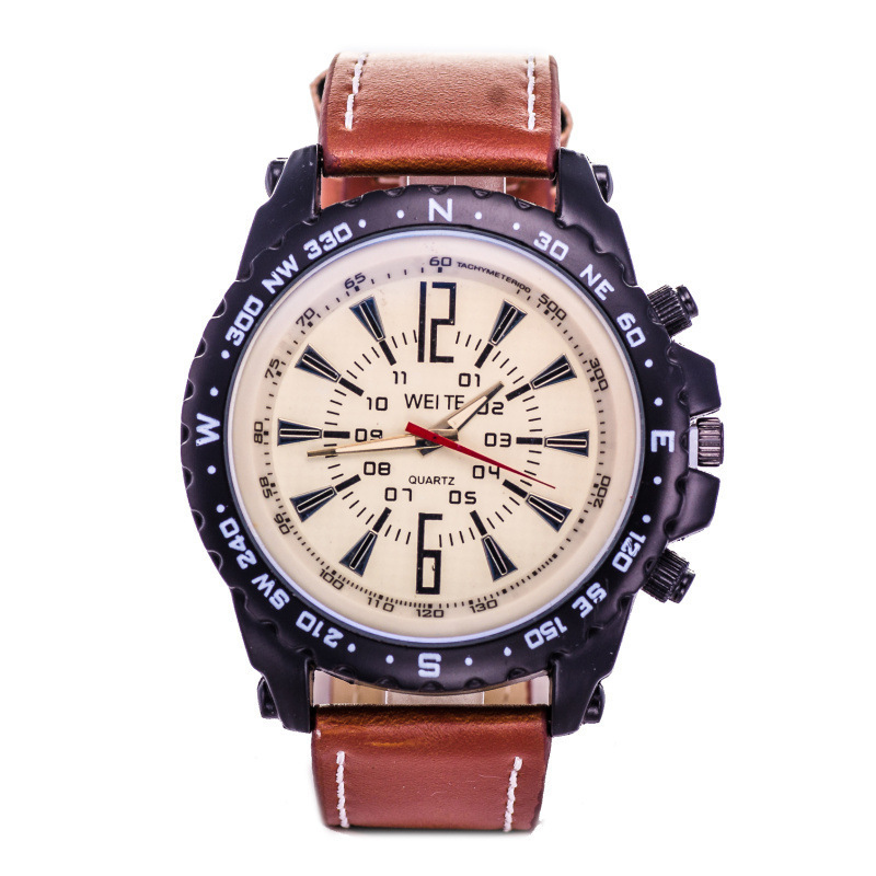 Outdoor Sport Man Belt Wrist-watches Business Affairs Leisure Time Will Clock Dial Man Quartz Wrist Watch