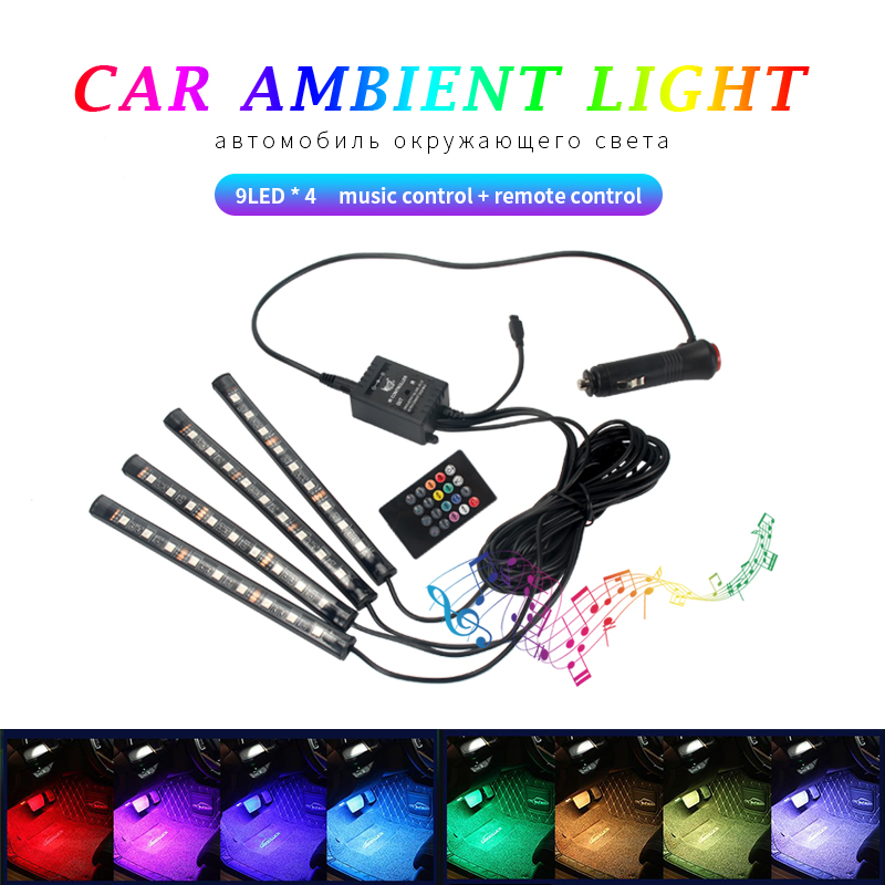Led-Light-Accessories Gadget-Light Auto-Neon-Interior Car Carro Para 12v Luces Aksesuar