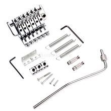 Electric Guitar Tremolo Bridge Double Locking Assembly System Chrome GA503 for Parts Accessories