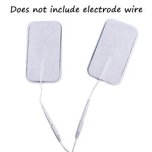 Image 3 - 20/50Pcs עצמי דבק אלקטרודה רפידות 2mm Plug ג ל תיקון לעשרות דיקור טיפול לעיסוי שרירים ממריץ הרזיה מכשיר