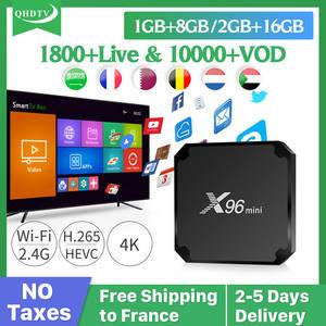 IPTV France Mini-Box S905W QHDTV German Arabic Subscription French Android X96 1-Year