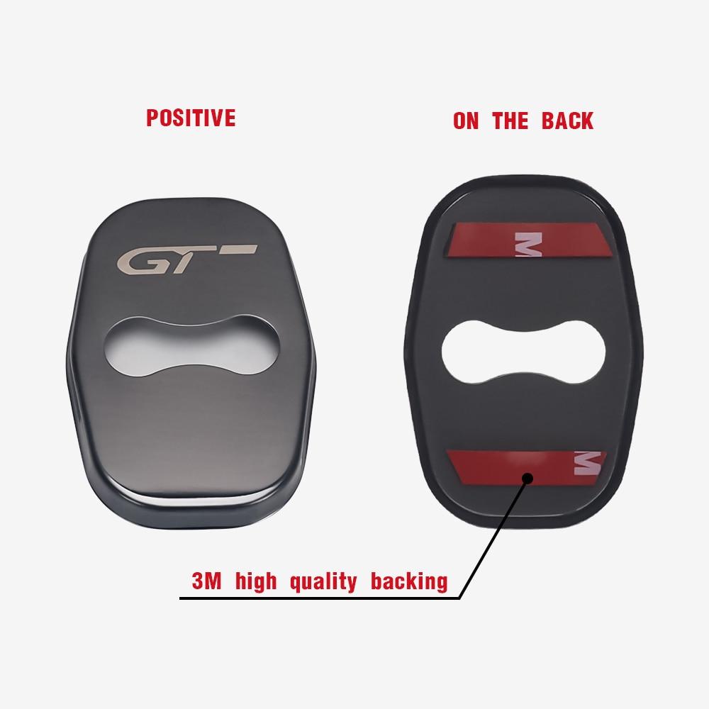 4Pcs QQY Couvercle de Serrure de Porte pour Peugeot 206 5008 4008 3008 207 308 408 307 508 GT Voiture Verrouiller Protection Couverture Accessoires Anti-Rouille en Acier Inoxydable Int/érieurs