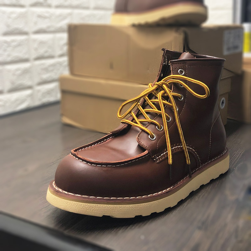 Spring Winter Snow Warm Genuine Cow Leather Round Toe Men Shoes Vintage High Quality Ankle Boots Tooling Desert Motorcycle Boots