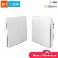 Original Xiaomi Aqara Mijia Smart home Light Control Single Fire wire ZigBee Wireless Key Wall Switch Via Smartphone APP Remote|Smart Remote Control| |  -