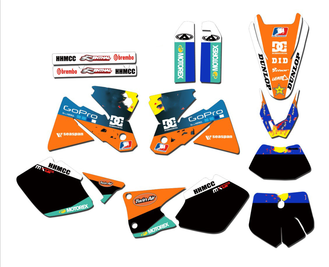 KTM 50 SX 2002 Full  Custom Graphic  Kit AUSSIE PRIDE 2008