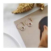 цена на Minimalist Inlaid Zircon Earrings Short Hair Temperament Stylish Earrings S925 Needle Earrings for Women Fashion Jewelry