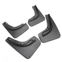 Черные пластиковые автоматические Брызговики, передние и задние брызговики, брызговики, брызговики для Jeep для компаса 17-18