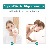 Winner Cotton Tissue Clean Face Makeup Wipes Wet Dry Dual Use Disposable Gentle Face Towelettes for Sensitive Skin Baby Wipes 5