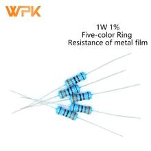 20Pcs 1W Metal Film Resistor 0R-22M 1% Tolerance 1R 1.8R 2.4R 3R 3.6R 7.5R 13R 18R 24R 39R 68R 100R 120R 160R 10 Ohm Resistance