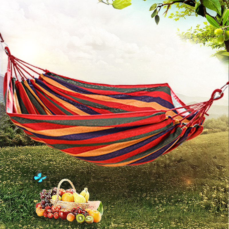 Easy Trip Hammock Outdoors Camp Single Leisure Canvas Crane Bed Dormitory Leisure Swing Hammock