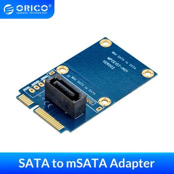 ORICO SATA 7PIN to mSATA Adapter Vertical Type Damp-Proof SSD Adapter Support SATA3 Protocol with Double Sided PCB Board Adapter