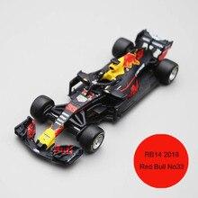 Bburago 1/43 1:43 2018 RB14 ريد بول Verstappen No33 F1 الفورمولا 1 سباق السيارات دييكاست دمية لعرض الملابس لعبة للأطفال بنين بنات