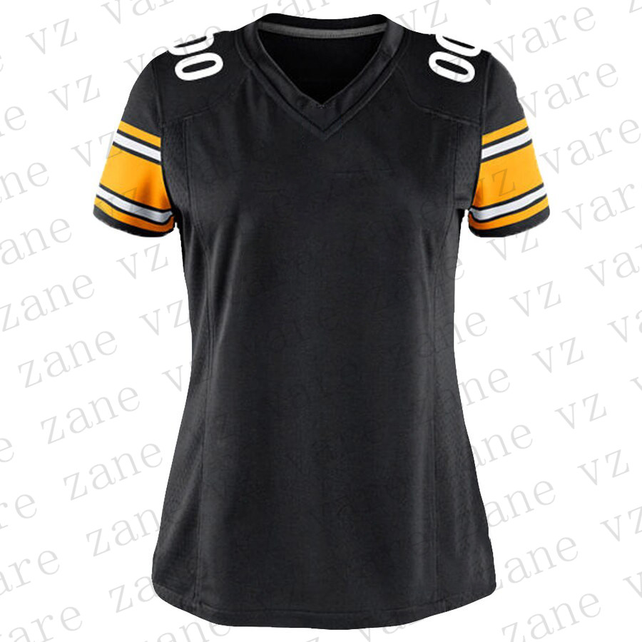 Customize Womens American Football Jerseys JuJu Smith-Schuster James Conner TJ Watt Devin Bush Joe Haden Mason Rudolph Cheap Pittsburgh Jersey