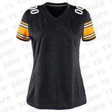 Customize Womens American Football Jerseys JuJu Smith-Schuster James Conner TJ Watt Devin Bush Joe Haden Mason Rudolph Cheap Pittsburgh Jersey