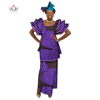 African Skirt Set For Women Dashiki African Clothes Ladies Tops And Skirt 2 Piece African Prints Plus Size African Suit WY071