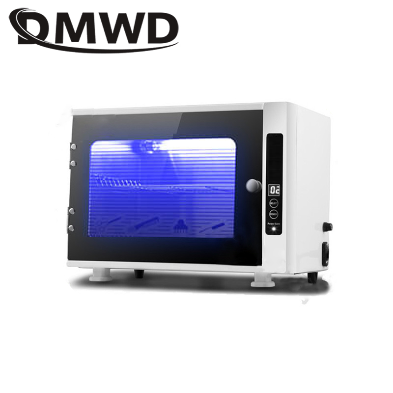 DMWD UV Sterilizer Disinfection Box Mini Ozone Disinfecting Cabinet Dental Ultraviolet Lamp Sterilization Nail Cleaner 110V 220V