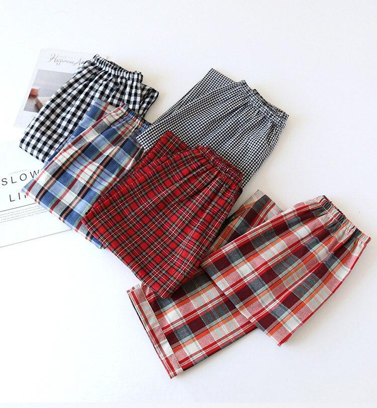 Fdfklak Pajamas For Sleep Wear Plaid Pants Woman Sleep Bottoms Spring Autumn Cotton Comfortable Sleepwear Pyjama Trousers