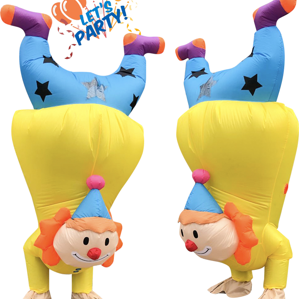 Hot Sale Handstand Clown Costume Carnival Christmas Halloween Party Inflatable Costumes For Adult Droll Stage Cosplay Clothes