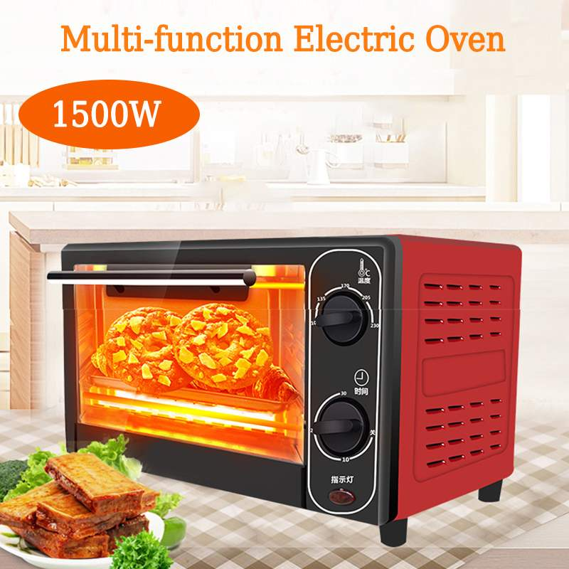 12L 1500W Household Electric Oven Stainless Steel Bread Baking Machine Home Life Kitchen Mini Bread Toaster Pizza Cake Maker