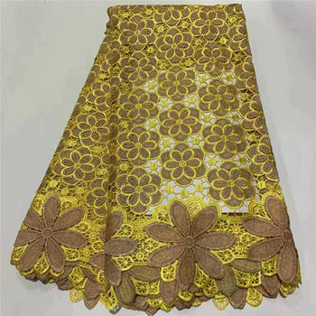 2020 New Design African Dry Lace Fabrics High Quality Cotton Lace Fabric Swiss Voile With stones Swiss Voile Lace In Switzerland