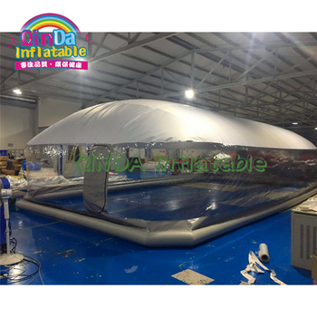 2019 inflatable swimming pool dome tent dustproof winter waterproof inflatable pool ceiling bubble dome tent factory inflatable bubble camping tent with double rooms waterproof photobooth bubble sleeping tents inflatable clear dome tent