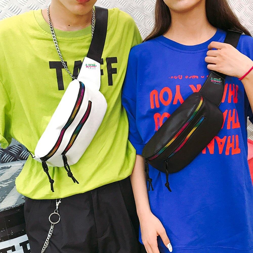 Chest Bag Girls And Boys Cool Fashion Unisex Color Zipper Bag Waist Bag Crossbody Bag Chest Bag Messenger Shoulder Bags