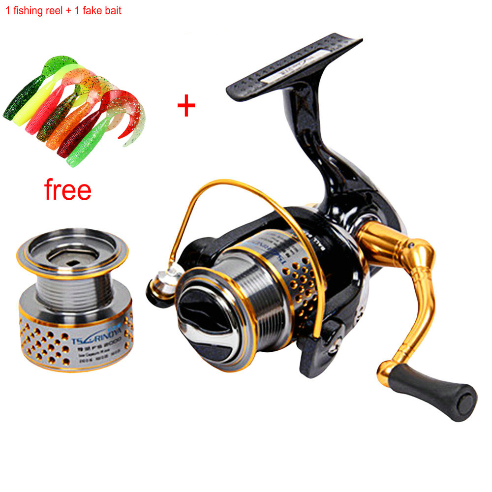 TSURINOYA F2000 5:2:1 Gear Ratio Spinning Fishing Reel for Casting Lure Tackle Line Automatic Folding Handle Fishing Reel YL-21