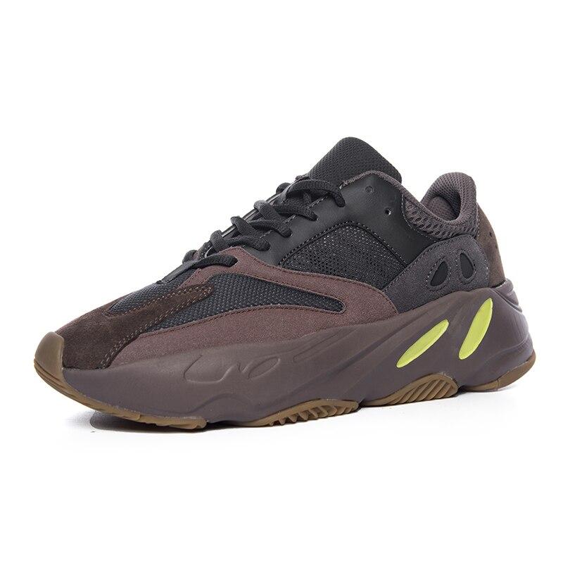 700 bottes hommes chaussures décontractées 2019 nouveau Kanye West Mauve vague hommes femmes loisirs 700s chaussures respirant chaussures de designer décontractées