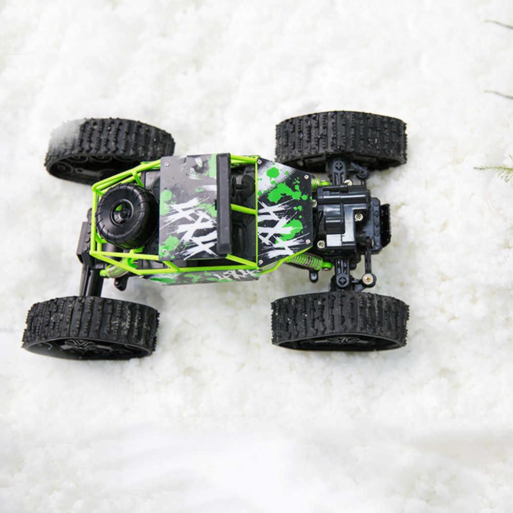 1/18 2WD alta velocidad RC todoterreno rastreador de escalada coche vehículo pista de nieve niños juguete
