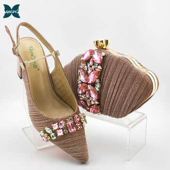 Hot Selling 2020 Special Designer Italian Shoes With Matching Bags Set African Women's Party Shoes and Bag Sets for Royal Party